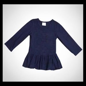 Other - Black ruffle shirt long sleeve